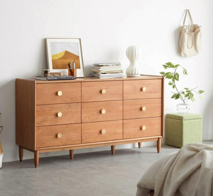 Prunus Solid Cherry Large Chest of Drawers