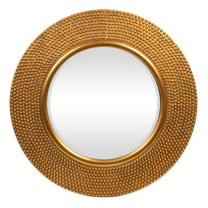 ROUND MIRROR CHAMPAGNE GOLD - Oak Furniture Store & Sofas