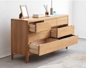 Seattle Natural Solid Oak 3+4 Chest of Drawers - Oak Furniture Store & Sofas