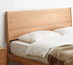 Seattle Natural Solid Oak Bed Frame - Oak Furniture Store & Sofas