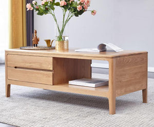 Seattle Natural Solid Oak Coffee Table - Oak Furniture Store & Sofas