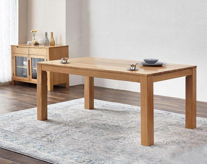 Seattle Natural Solid Oak Dining Table