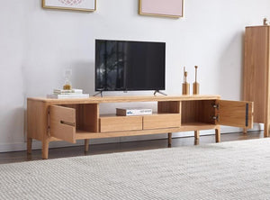 Seattle Natural Solid Oak Entertainment Unit - Oak Furniture Store & Sofas
