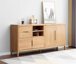 Seattle Natural Solid Oak Large Sideboard - Oak Furniture Store & Sofas