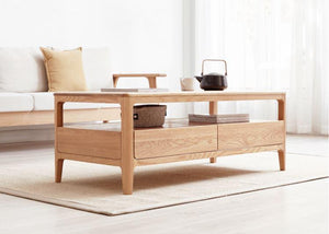 Seattle Natural Solid Oak Small Coffee Table - Oak Furniture Store & Sofas