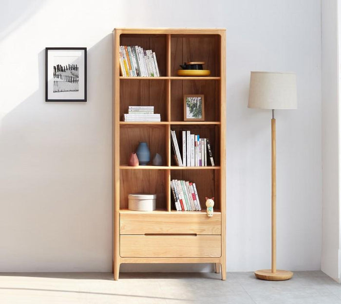 Seattle Natural Solid Oak Tall Bookcase