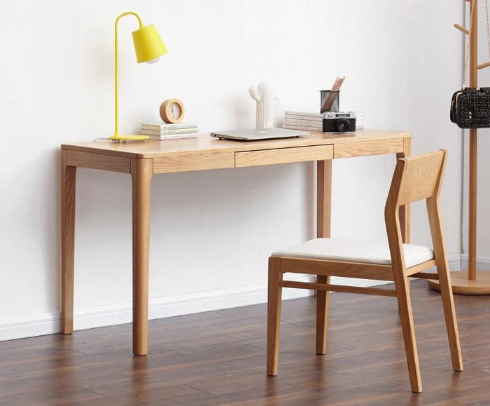 Seattle Natural Solid Oak Writing Desk