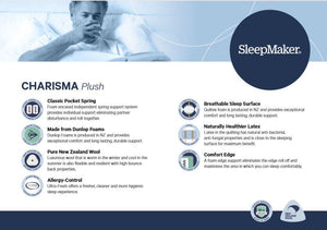 SleepMaker Charisma Plush Mattress - Oak Furniture Store & Sofas
