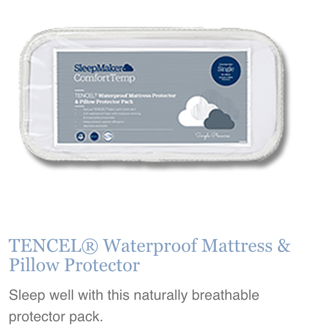 Sleepmaker Waterproof Mattress & Pillow Protector - Double