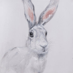 SNOW HARE OIL PAINTING - Oak Furniture Store & Sofas