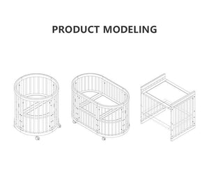 Solid Neutral Beech 3 in 1 Baby Cot Bed (New Product Coming Soon!) - Oak Furniture Store & Sofas