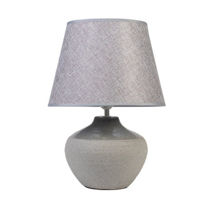 SPECKLED URN II LAMP WITH GREY SHADE - Oak Furniture Store & Sofas