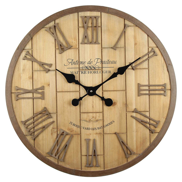 STACEY WOOD WALL CLOCK