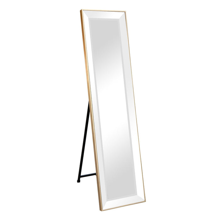 STANDING BEVELED MIRROR 1600 X 400MM GOLD
