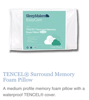 TENCEL•À_ Surround Memory Foam Pillow - Oak Furniture Store & Sofas