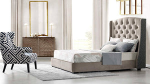 Tucson Fabric Bed Frame - Queen - Oak Furniture Store & Sofas