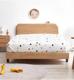 Urban Kidz Oak Bed Frame in Queen Size - Oak Furniture Store & Sofas