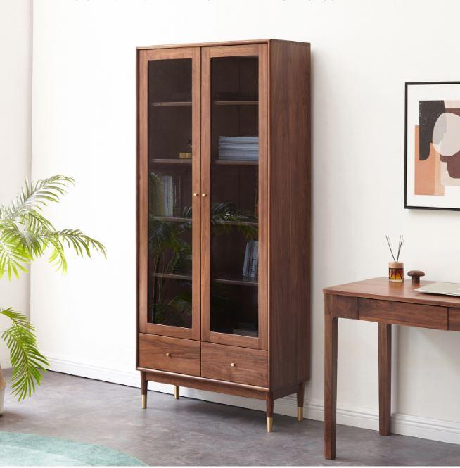 Walnut  Display/Book Cabinet