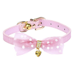 Pink Fairy Collar with Bow Collar - DogCrush Boutique