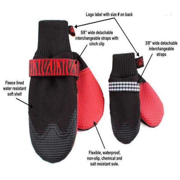 Red Bottom Snow Boots For Dogs - DogCrush Boutique