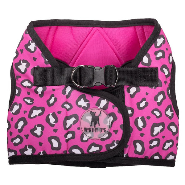 Cheetah Velcro Harness - NEW ARRIVAL - DogCrush Boutique