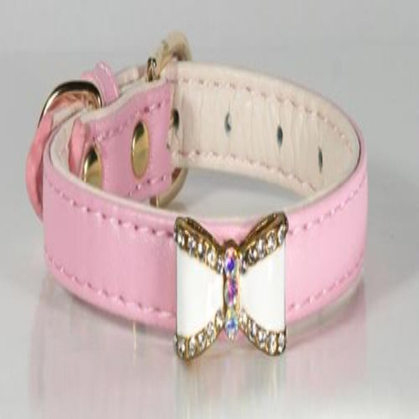 Pink Crystal Bow Fancy Collar - DogCrush Boutique