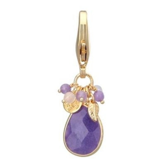 Quarts Stone Charm - Purple Galaxy - DogCrush Boutique