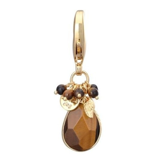 Quarts Stone Charm - Tiger's Eye - DogCrush Boutique