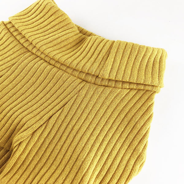 Turtleneck Long Sleeve Mustard - DogCrush Boutique