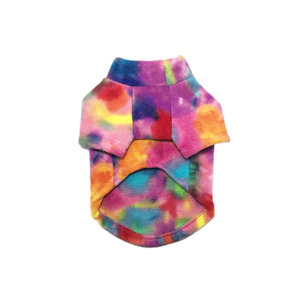 Tie Dye Sherbert Popsicle Pullover Fleece Sweater (NEW) - DogCrush Boutique