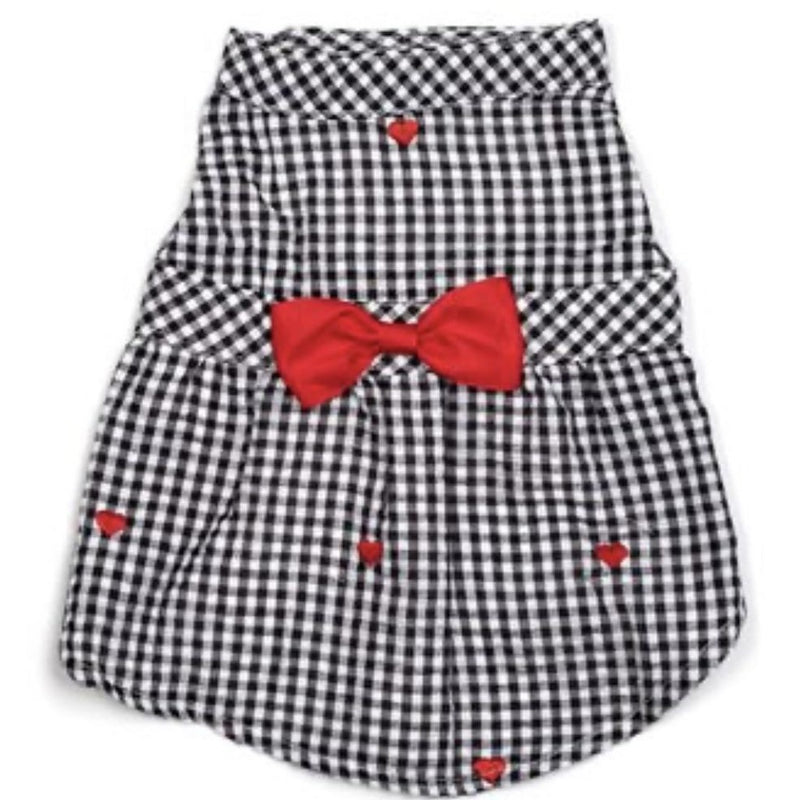 PBJ Collection Gingham Heart Dress - DogCrush Boutique