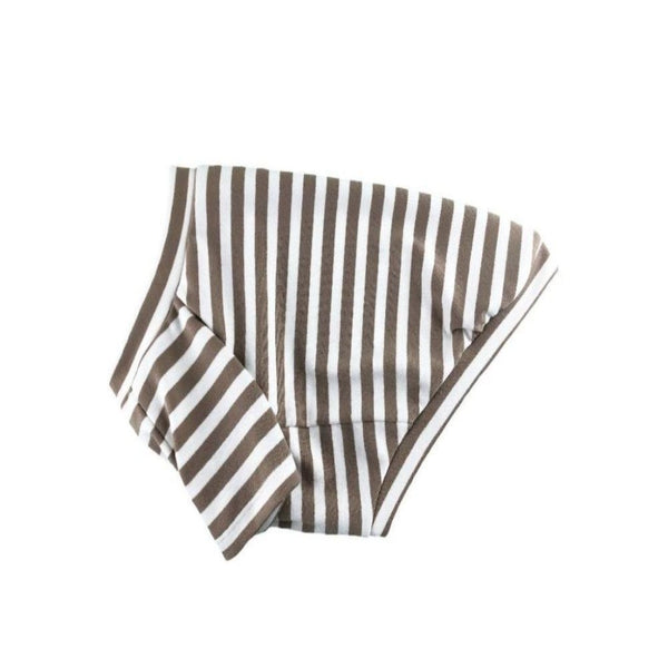 Classic Striped Shirt Mocha/White - DogCrush Boutique