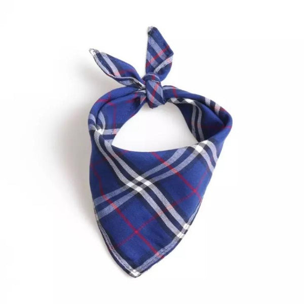 Blue Plaid Bandana by DogCrush - DogCrush Boutique