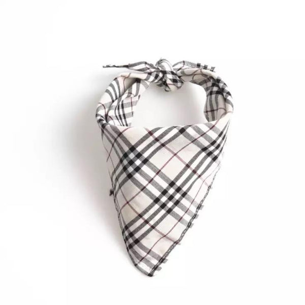 White Plaid Bandana by DogCrush - DogCrush Boutique