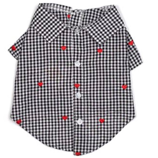 PBJ Collection Gingham Heart Shirt - DogCrush Boutique