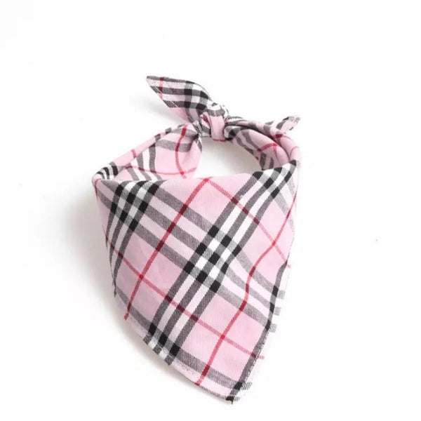 Pink Plaid Bandana by DogCrush - DogCrush Boutique