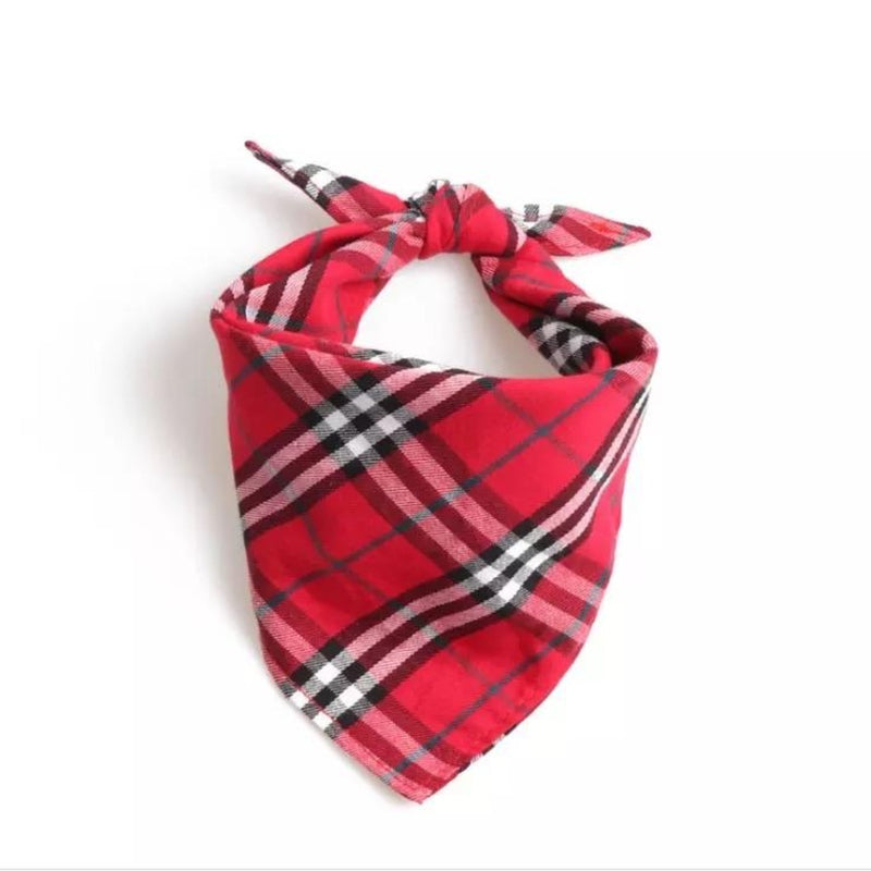 Red Plaid Bandana by DogCrush - DogCrush Boutique