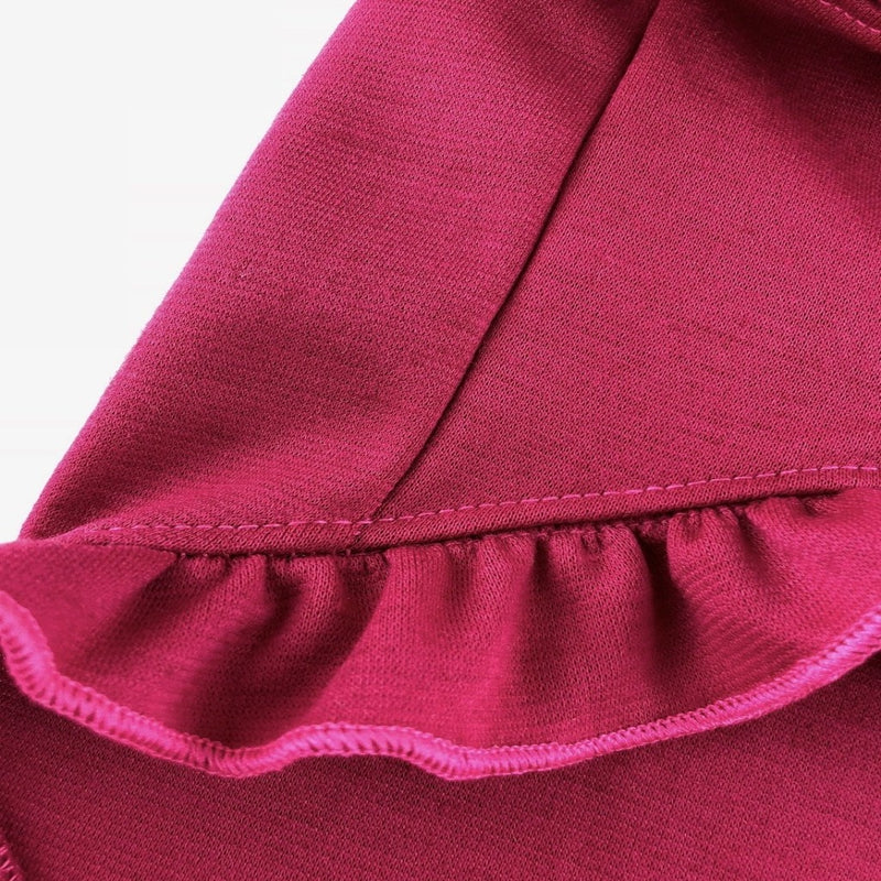 Louise Ruffle Dress Fuschia - DogCrush Boutique