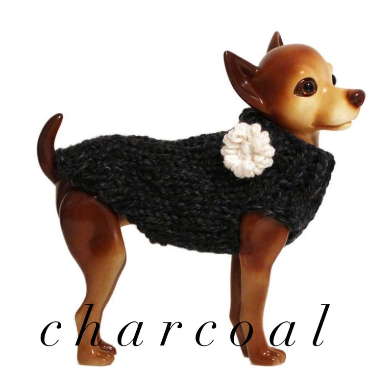Wool Pet Sweaters Hand Knit - FAVORITE - DogCrush Boutique