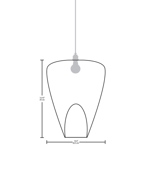 Technical specifications for the Boveda modern handmade copper pendant light