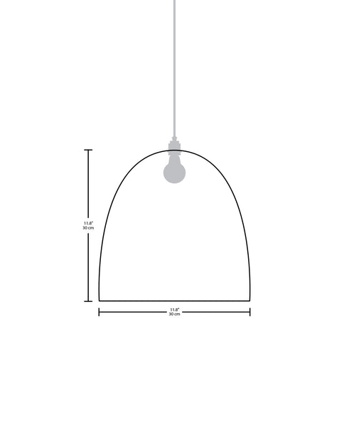 Technical specifications for the Belle modern handmade copper pendant light