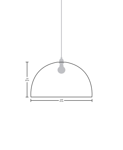 Technical specifications for the Horizon modern handmade copper pendant light