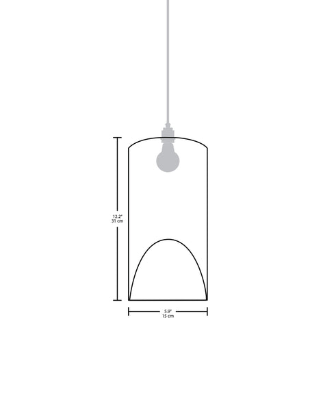 Technical specifications for the Pipa Small modern handmade copper pendant light