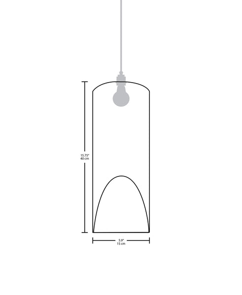 Technical specifications for the Pipa Large modern handmade copper pendant light