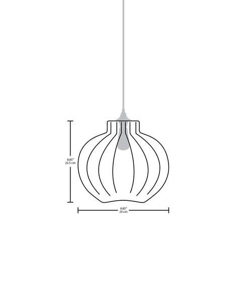 Technical specifications for the Tamala modern handblown glass pendant light