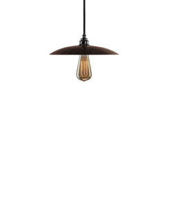 Besautiful Modern hand made smal cureved copper pendant lighting in a warm brown copper patina