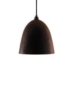 Modern Bell shaped hand made copper pendant lamp with a contemporary brown patina finish
