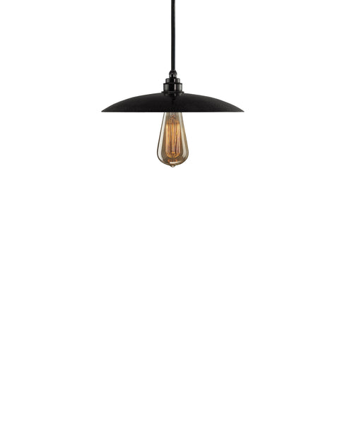Besautiful Modern hand made smal cureved copper pendant lighting in a charcoal gray copper patina