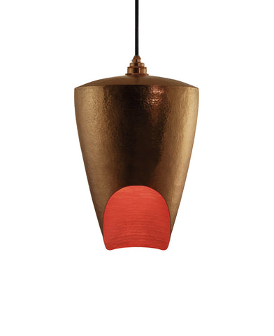 Beautiful modern hand made copper pendant lighting in polished copper