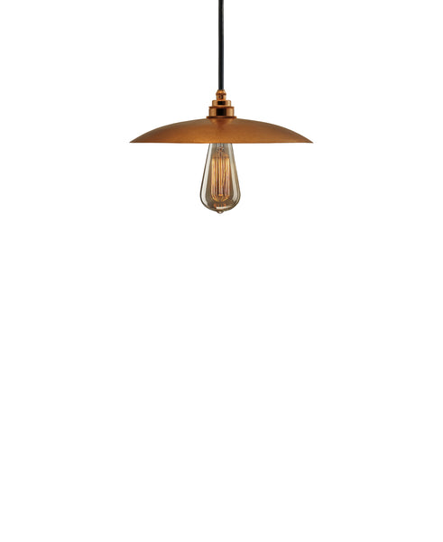 Besautiful Modern hand made smal cureved copper pendant lighting in a polished copper finish.